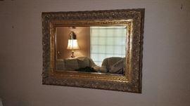 Beautiful gold mirror.