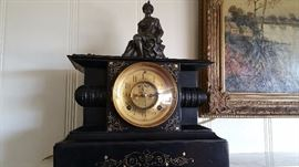 GORGEOUS turn-of-the-century mantle clock