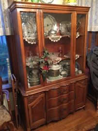China cabinet filled with china and more treasures