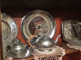 Silver-plate and pewter