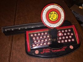 Vintage toy typewriter