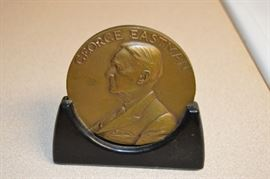 George Eastman Bronze Medal awarded for 25 Years of service at Eastman Kodak.