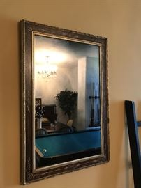 """Smoked mirror with gilded wood frame. 39"""" X 26 1/2"""". $150"""