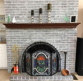 Fireplace Tools, Cobbler Shoe Stand, Studio Glass & More (Stained Glass Screen May Leave with Owner, Will Update)