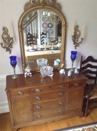 Sideboard located in dining room. Mirror not attached.