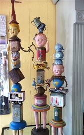 Rare & Highly Desirable Bill Finks original signed sculptures & candlesticks, rarely seen on secondary market!!