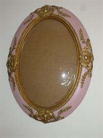 Beautiful antique bubble glass frame