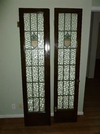 Gorgeous antique french doors with leaded glass