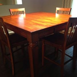 Large bistro table with 4 chairs