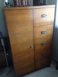 Tall Dresser with hanging space on the left!