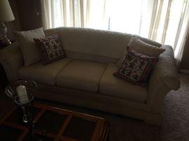 Cream colored sofa!