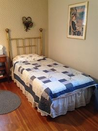 Twin size Brass headboard and mattress set!