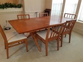 Mid-Century Dining Table & Chairs