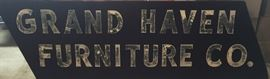8' long plywood GRAND HAVEN sign