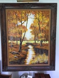 "Large oil painting signed ""Lee Reynolds"""