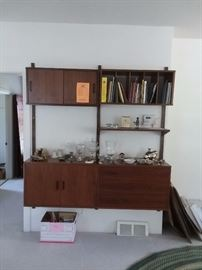 3 piece mid century modern Cado Floating wall unit . 3rd piece not pictured.