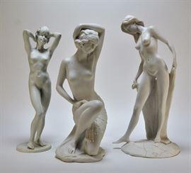 701:  3 Kaiser Porcelain and Italian Figure Grouping