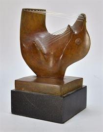 708:  Bronze Sculptured Signed Moore