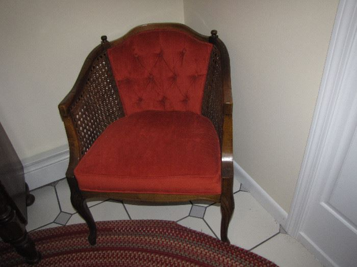 Furnishings from grandmother's estate. Beautiful chair with caning and in good condition.