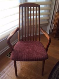 Danish Dining Arm chairs Teak Wood