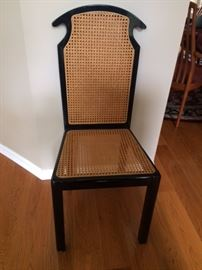 Black Lacquer and Cane seat/back Side Chair