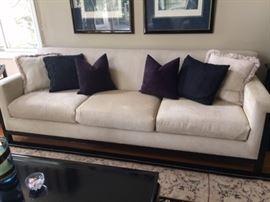Beautiful Sofa with dark wood base