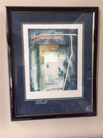 """Signed """"Moonshadows"""" Lithograph"""