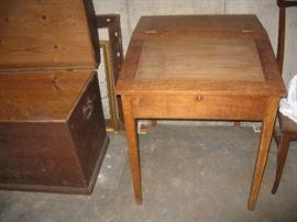Slant front vintage desk