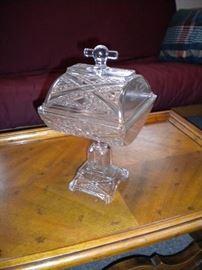 Antique pedestal candy dish