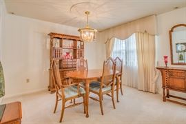 Dining Table and Chairs , China Closet