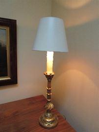 Gilt Candlestick Lamp