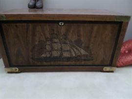 Trunk with Boat Insignia-Brass Corners  $ 85