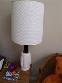 Pair of Mid-Century Black/White Lamps $ 150 pr.