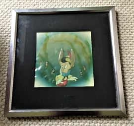Original Disney Animation Cell from the Movie Pinocchio  dated 1942