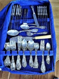 "Victorian Sterling Silver Flatware Dated 1891 & 1901 the Pattern ""Paris"""