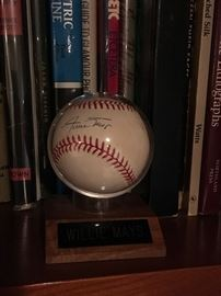 Baseball autographed by Willie Mays