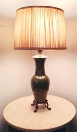 Table Lamp with Chinese Ceramic Base