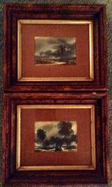 "Watercolors 6""x4"" by Robert W. Daley, b. 1922, California Artist."