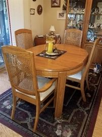 Dining room/kitchen table with leaf and four chairs