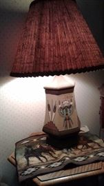 Native American Sand Painting table lamp