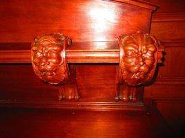 Detail of Antique English SIdeboard, Original to Home