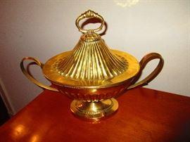 19th C. Brass Covered Turine