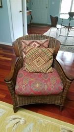 Wicker Chair with Elim Style Pillows