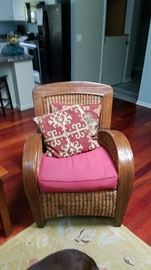 Wicker Chair II with Elim Style Pillows