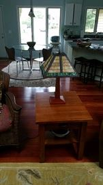 Craftsman Style End Table and Tiffany Lamp