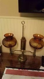 Antique Kerosene Lamp Converted to Electric