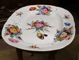 Antique hand painted 1800s platter.