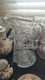 American Brillant Cut Glass Pitcher
