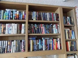 three  large bookcases on second floor.