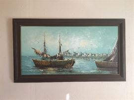 "Large 24x48"" Original Paolo Stirrat oil painting"